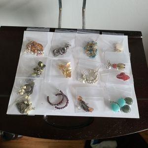 Earrings Lot 3-Bakers Dozen-13 Pairs-Mixed
